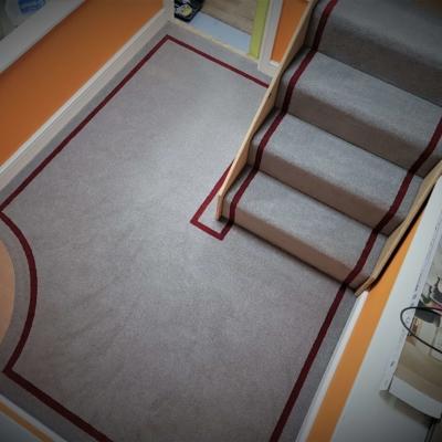 Carpet border technique
