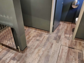 Commercial safety flooring Forbo cap and cove