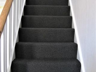 Stair carpet fitting