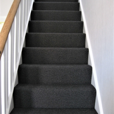 Stair carpet fitting
