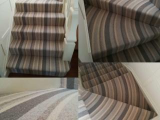 Curved carpet winders.