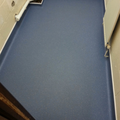 Coved safety flooring