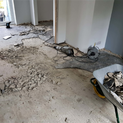 Concrete screed removal prep work