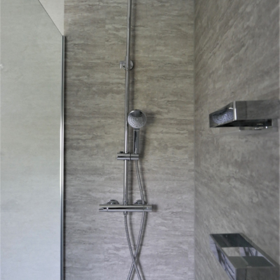Shower LVT wall tiling