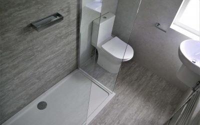 Bathroom and Shower area LVT wall tiling.